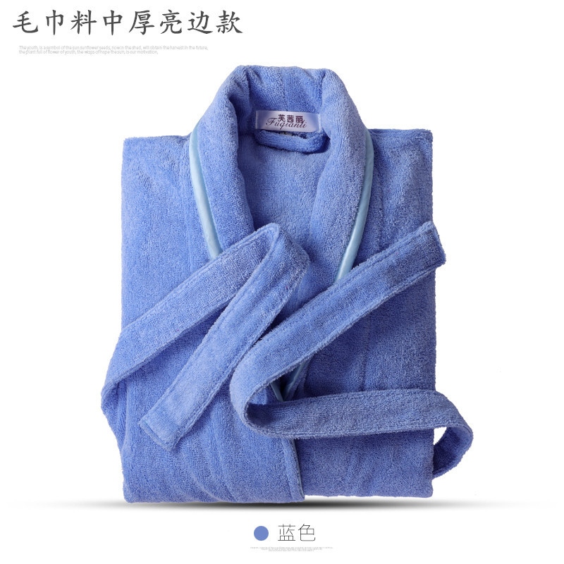 Pure Cotton Toweling For Both Men And Women Bathrobe Bath Warm Bathrobe Plus-sized Hotel Couples Nightgown A Generation Of Fat