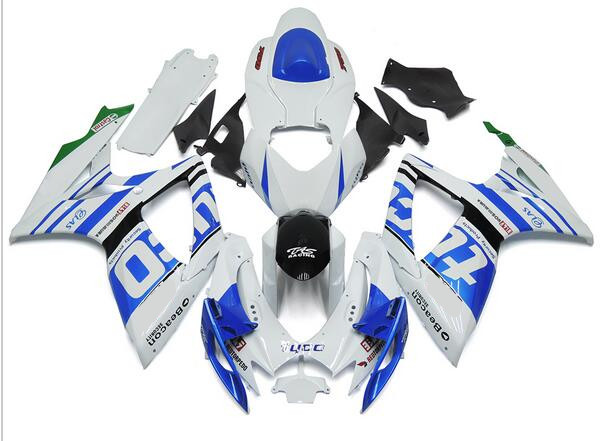 New ABS Full <font><b>Fairings</b></font> Kit Fit For SUZUKI GSX-R600 GSX-R750 06 07 R600 R750 K6 <font><b>GSXR</b></font> <font><b>600</b></font> 750 <font><b>2006</b></font> 2007 body set blue white Tyco image