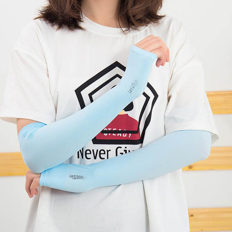Calymel New Ice Silk Sunscreen Sleeves Outdoor Sun UV Protection Hand Protector Cover Arm Sleeves Arm Warmer Sleeves Wholesale