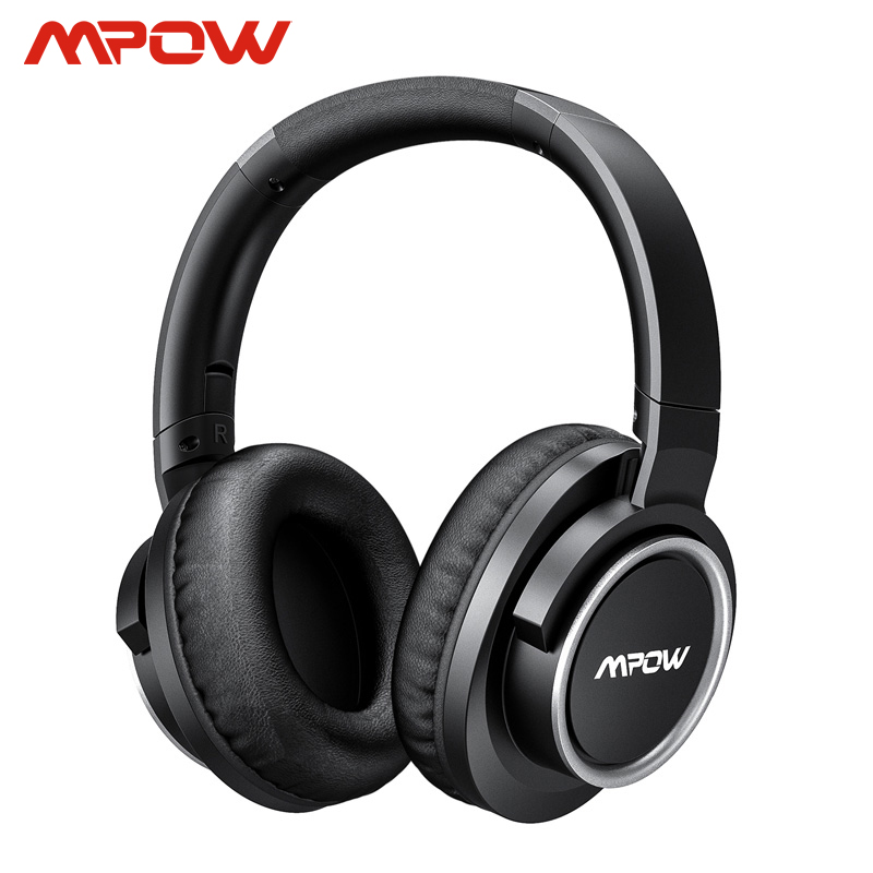 Mpow H18 Active Noise Cancelling Headphone 50 Hours Playing Time 17m/56ft Bluetooth Range With Carrying Case Hi Fi Audio Bass Bluetooth Earphones & Headphones  - AliExpress