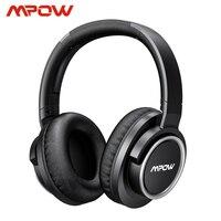 Mpow h18 액티브 소음 차단 헤드폰 50 시간 재생 시간 17 m/56ft 블루투스 범위 (운반 케이스 포함) hi-fi 오디오베이스