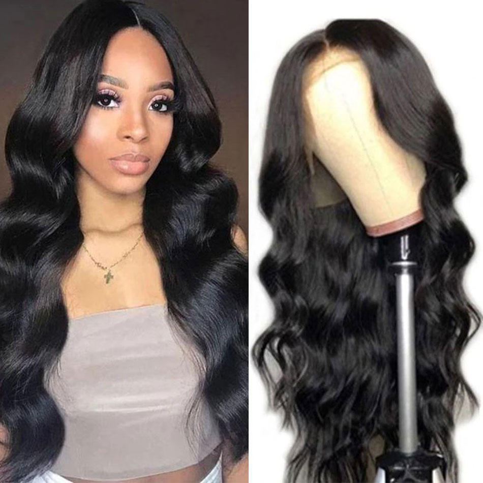 Liddy Lace Front Human Hair Wigs Body Wave 10-26 Inch 13x4 150% Density Non-remy 100% Human Hair Lace Front Wigs Natural Color