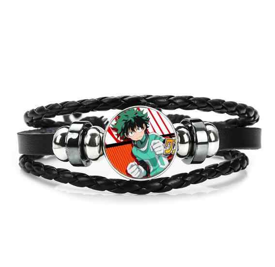Anime Mein Hero Wissenschaft armband multilayer leder glas armband action figur spielzeug für kinder jungen männer mädchen geburtstag geschenk