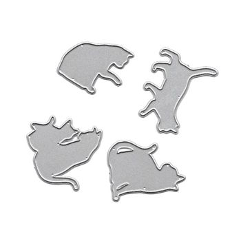 Plantillas de corte de Metal Cat plantilla para álbum de recortes de bricolaje álbum de estampillas estampado de tarjeta de papel decoración artesanal