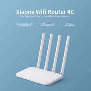 Image 4 - Xiaomi Mi WiFi yönlendirici 4C 64MB 300Mbps 2.4G 4 antenler akıllı APP kontrolü yüksek hızlı kablosuz yönlendirici wiFi tekrarlayıcı ev ofis için