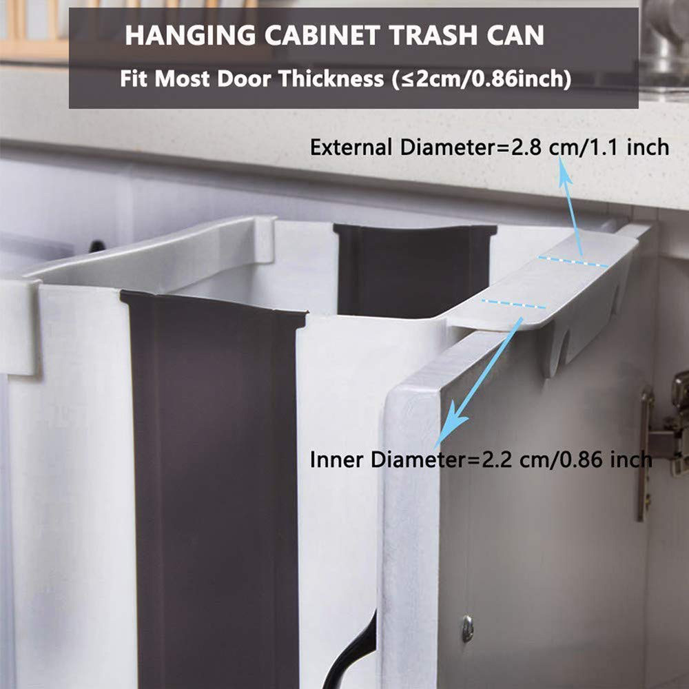 Eco-friendly Wall Mounted Folding Waste Bin Hanging Car Trash Can Recycle Bin Waste Bins Dustbin Storage Boxes For Kitche Toilet