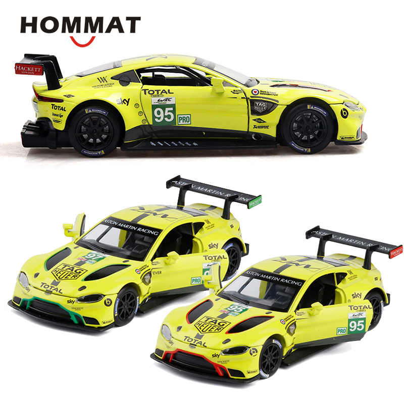 Aston Martin Vantage GTE Racing Car 1:32 Scale Model Car Diecast Vehicle Yellow