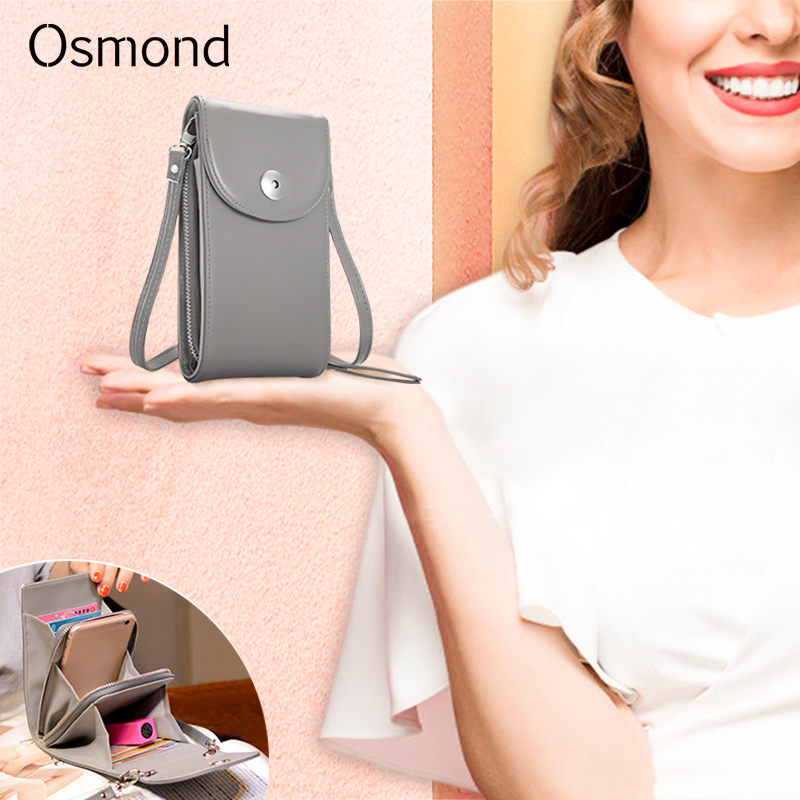 Osmond Women Handbags Korean Mini Bag Cell Phone Bags Simple Small Crossbody Bags Casual Ladies Flap Shoulder Bag сумка женская