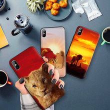 Soft Silicone Phone Case For iPhone XR Case For TPU iPhone 5 5SE 6 6S 7 Plus 8Plus XS X Xr XS Max 9 Coque The Lion King(China)