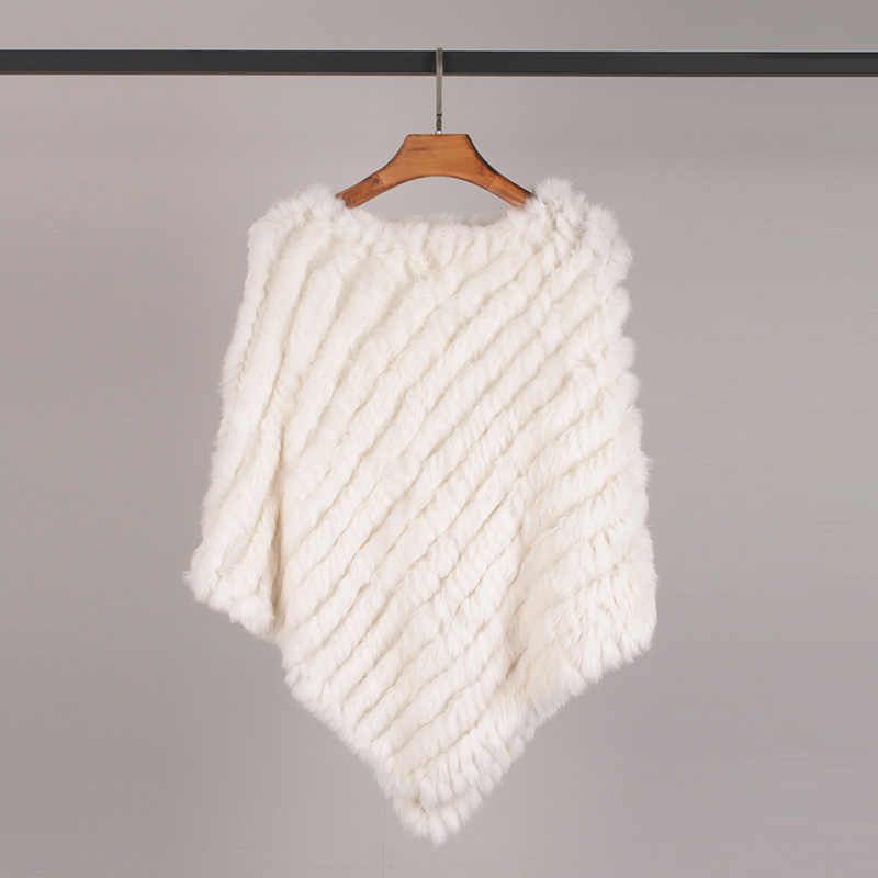 2019 Mới Nhất Lông Vintage Đuôi Nơ Nữ Dệt Kim Chính Hãng Lông Thỏ Áo Choàng Nữ Tay Knittign Đeo Cưới Tam Giác Khăn Choàng Cổ