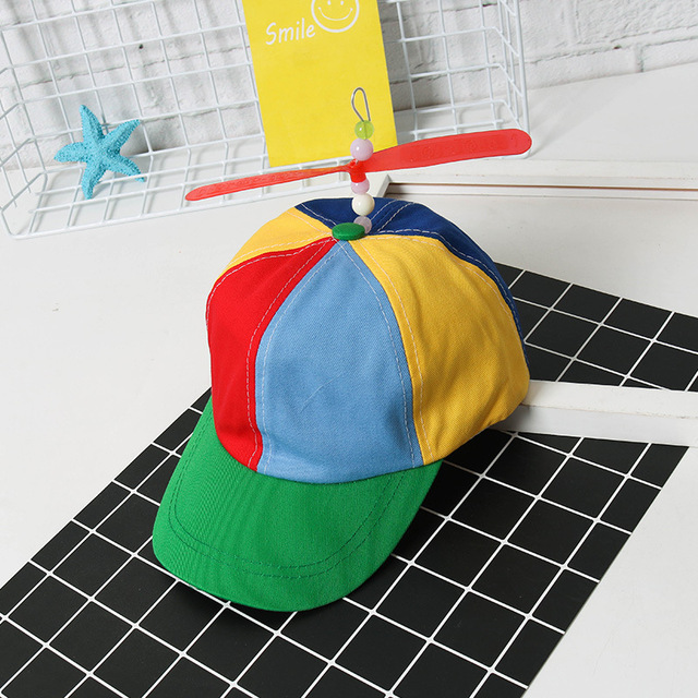 2019 Helicopter Propeller Baseball Caps Colorful Patchwork Cap Hat Sun Hat Children Boys Girls Hip Hop Cap