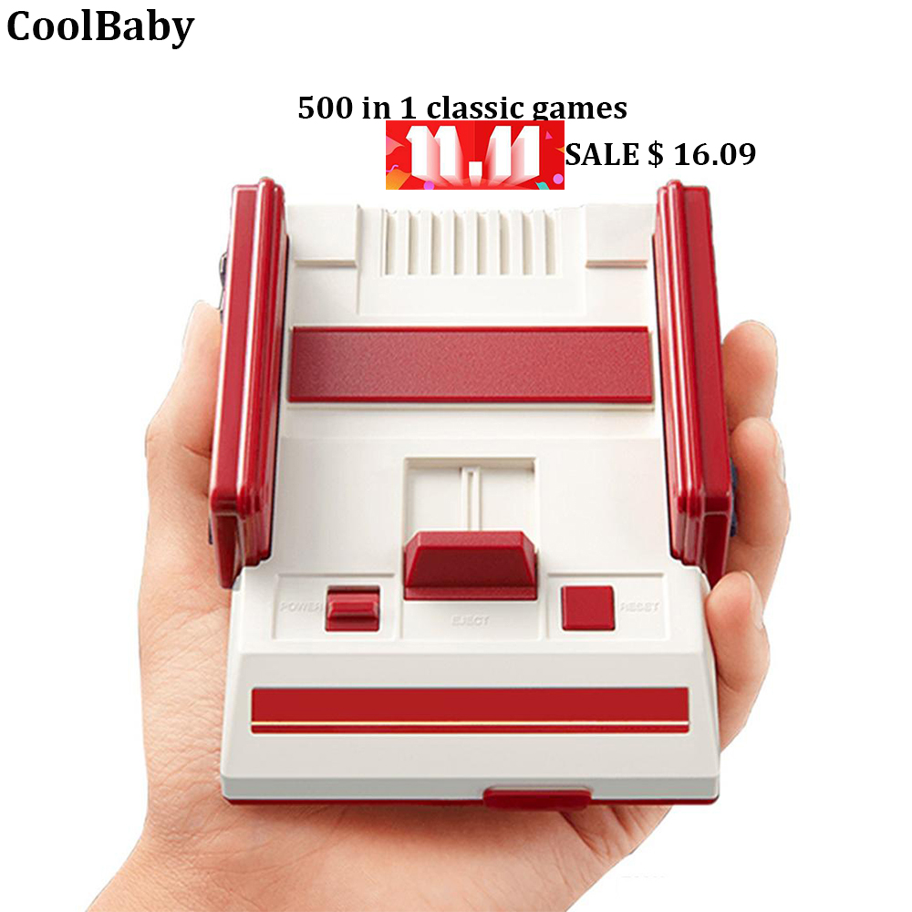 Video game console double handheld AV output store 500 in 1 classic best gift tv game 8bit retro game RS-36
