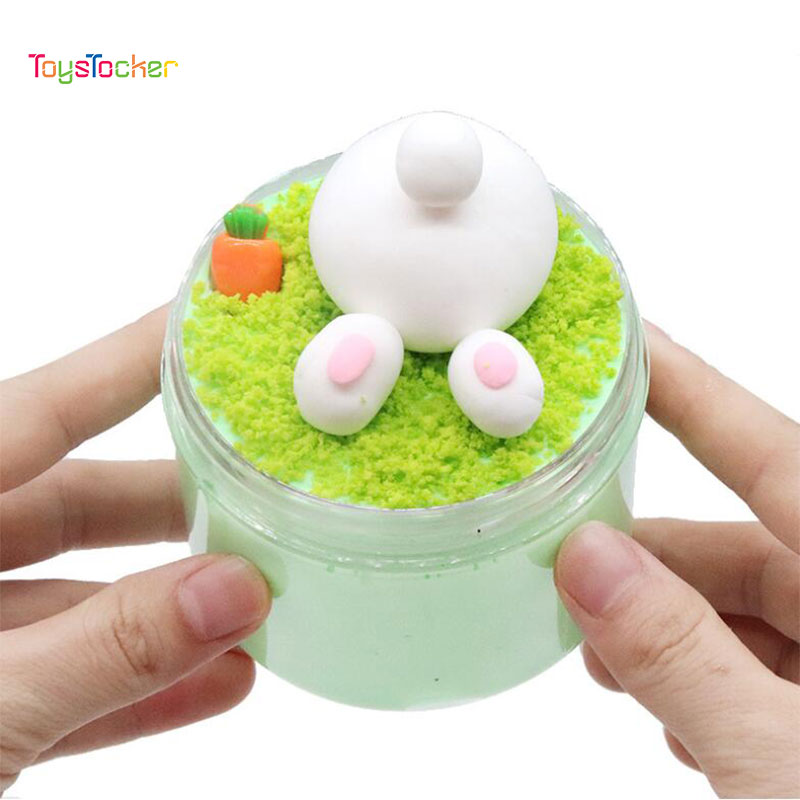Colorful Slime Clay Polymer Anti Stress Kids Toy Cotton Mud Magic Crystal Sand Fluffy Slime Clay Toy Plasticine