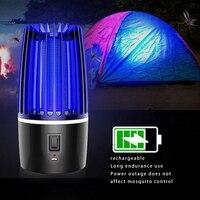 Assassino do mosquito lâmpada usb recarregável controle mosquito armadilha lâmpada led armadilha elétrica sala de estar lâmpada uv luz matando inseto