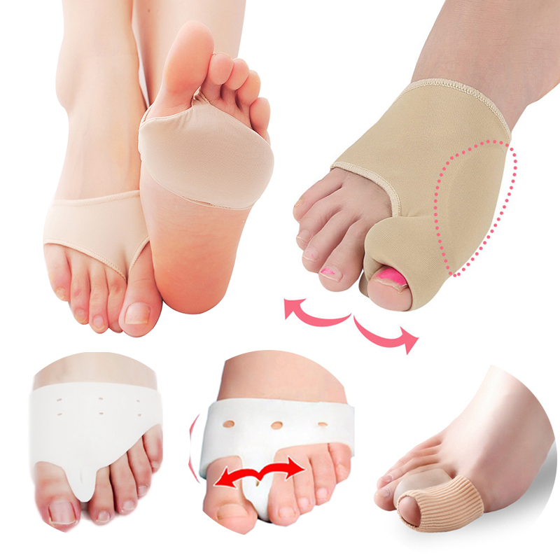 Foot Splint Protector Orthopedic Thumb Foot Straightener SiliconeToe Separator Pain Relief Pedicure Foot Care Tool Supplies