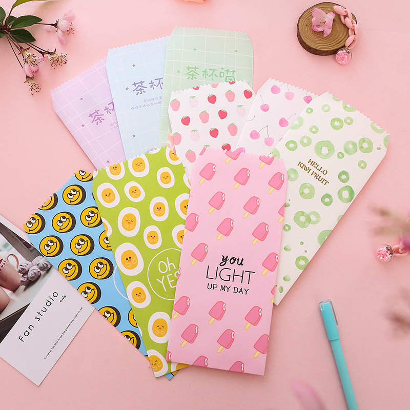 Hipster Cartoon Cute Envelop Package Love Letter Heart Envelope Literature And Art Confession Write Romantic Envelope Stationery