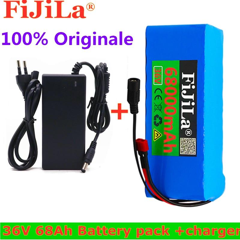 100% Original 36V bateria 10S4P 42 68Ah bateria 500W de alta potência da bateria mAh 68000 V Ebike elétrico bicicleta Carregador BMS + 42V2A