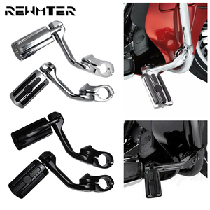 "Motorcycle Universal 1.25"" 32mm Footrest Pedal Long Angled Highway Engine Guards Foot Pegs Mount Kits For Harley For Yamaha(China)"