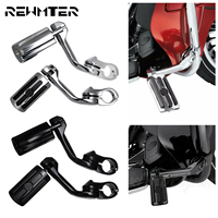 Motorcycle Universal 1.25 32mm Footrest Pedal Long Angled Highway Engine Guards Foot Pegs Mount Kits For Harley For Yamaha