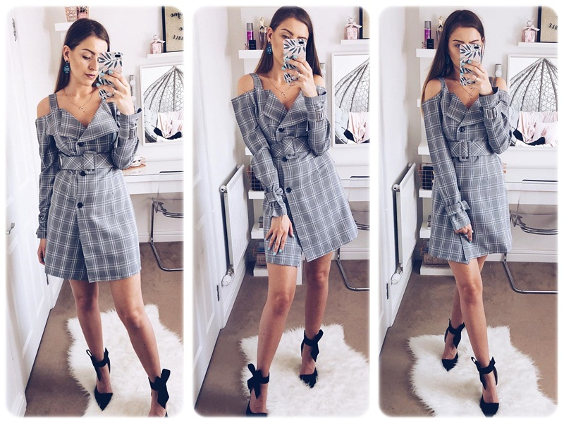 Simplee V-neck plaid sash belt women dress Spaghetti strap button office ladies dress Autumn winter female short party dress 4