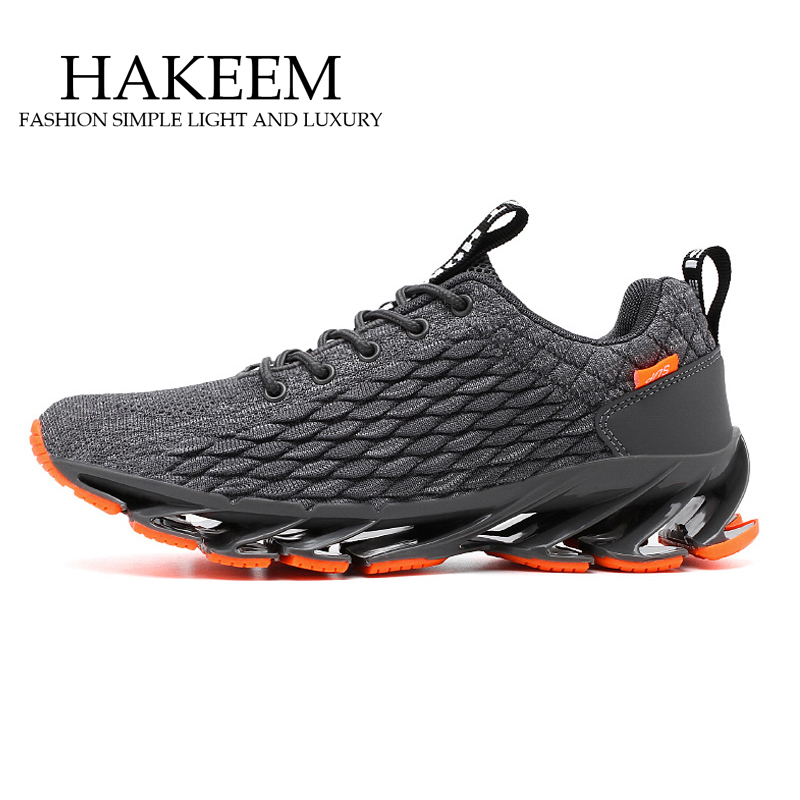 New Blade Running Shoes Man Korean Cool Spring Shoes Non-slip Light Shock Absorber Breathable Sports Shoes Zapatos