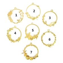 DIY Epoxy Resin Metal Frame Exquisite Decoration Starfish Shell Golden Crafts Mold Ring Pendant Jewelry Making UV Charms Tools