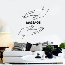 Massage Wall Decal Spa Center Hand Beauty Salon Relax Time Health