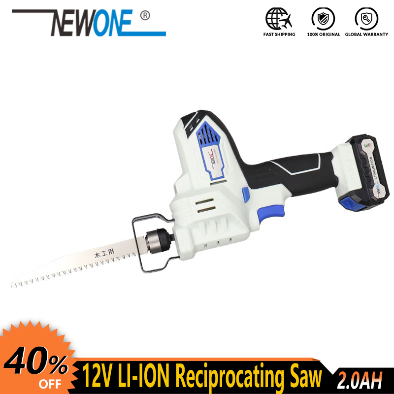 12V NEWONE  Cordless Electric Lithium Power Tool Portable And Rechargeable Hand Reciprocating Saw Saber Saw Multi-function Saw