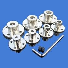2mm/3mm/3,17mm/4mm/5mm/6mm/6,35mm/7mm/8mm/10mm/11mm/12mm/14mm Motor de acoplamiento de reborde rígido Eje guía acoplador de Motor conector