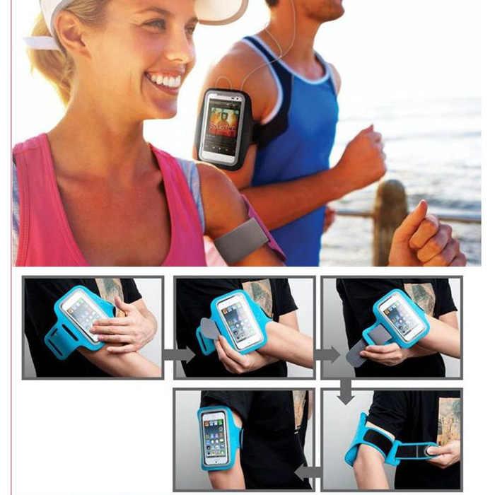 Uniwersalny Sport opaska na ramię do IPhone X 6 7 8 xs xr dla Huawei dla Xiaomi redmi sportowa opaska na ramię pas siłownia torba etui na telefony 5.5 cal