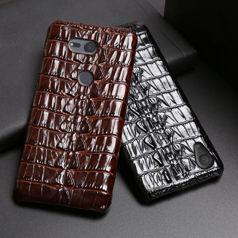 Leather Phone <font><b>Case</b></font> For <font><b>Sony</b></font> <font><b>Xperia</b></font> XA XA1 XA2 XA3 Ultra <font><b>Z2</b></font> Z3 Z4 Z5 XZ XZ1 XZ2 Premium XZ3 XZ4 X 1 5 8 10 Crocodile Tail Texture image