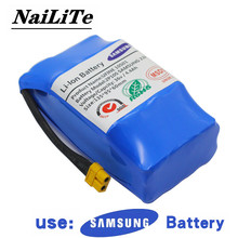 Genuine36V rechargeable li-ion battery pack 4400mah 4.4AH li-ion cell for electric self balance scooter hoverboard unicycle