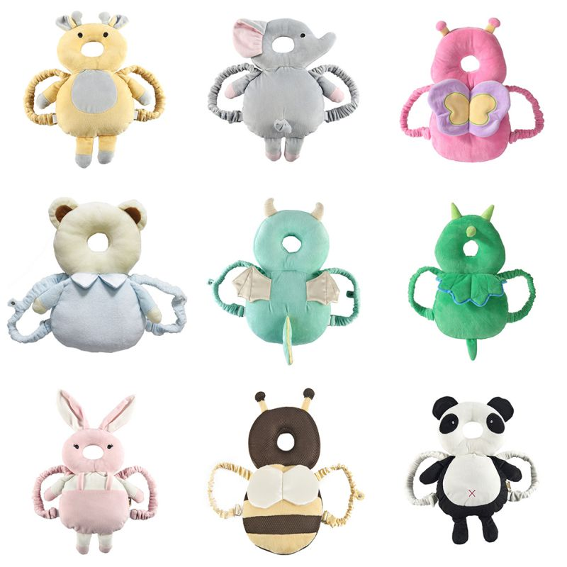 Baby Head Protection Pad Toddler Headrest Pillow Newborn Cute Animal Soft Drop Resistance Cushion Baby Protect Sleep Positioner