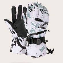 Men Waterproof Ski Gloves Women Winter Outdoor Warm Adult Ski Gloves Thickened Gant Thermique Winter Sports Accessories EF50ST