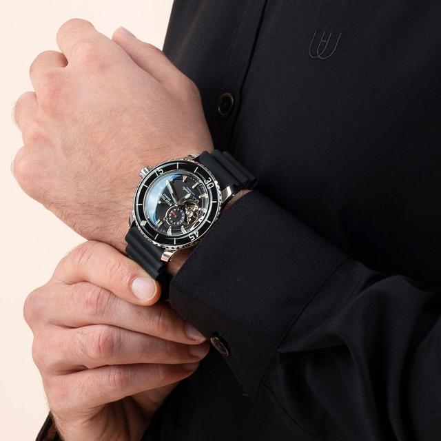 リーフ虎/rtスポーツ腕時計男性ナイロンストラップ自動スーパー発光鋼ダイブウォッチ日付RGA3035