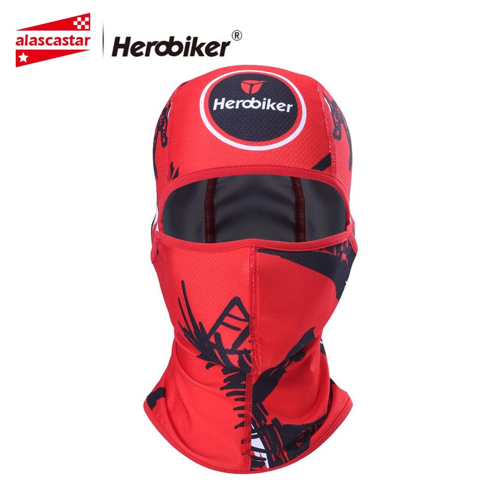 HEROBIKER Motorcycle Mask Motorcycle Face Mask Face Shield Balaclava Sun-protection Moto Biker Face Mask Headscarf Mascara Moto