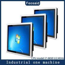 10.4 inç endüstriyel dokunmatik panel PC I7-6650 8G RAM 128G SSD Wifi Com win7/win10 sistemi kapasite ekran hepsi bir Tablet