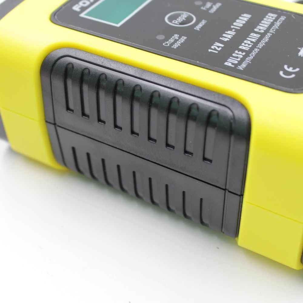 كامل التلقائي شاحن بطارية السيارة 110 فولت إلى 220 فولت إلى 12 فولت 6A ذكي سريع الطاقة شحن الرطب الجاف الرصاص حمض شاشة الكريستال السائل الرقمي