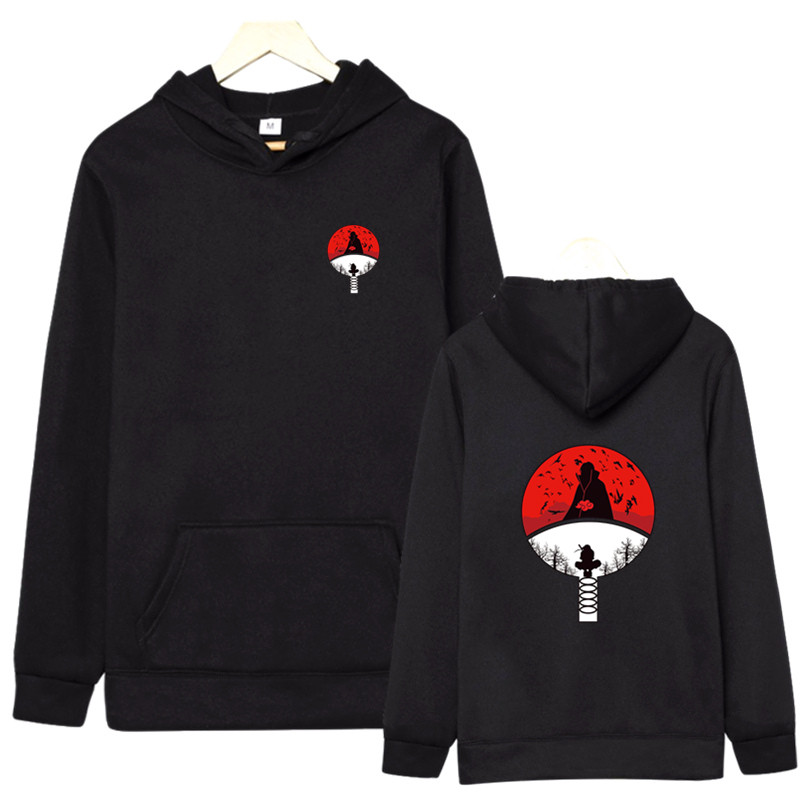 Hot sale Hoodies Unisex Naruto Harajuku Japanese Anime Uchiha Itachi Printed Men's Hoodie Streetwear Fashion Casual sweatshirt