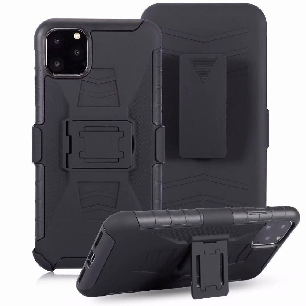 For <font><b>iPhone</b></font> SE 2020 Black Hybrid Holister Defender Builder <font><b>Case</b></font>+<font><b>BELT</b></font> CLIP For <font><b>iphone</b></font> 11 Pro Max <font><b>XR</b></font> XS MAX X 7 8 6 PLUS <font><b>Case</b></font> cover image