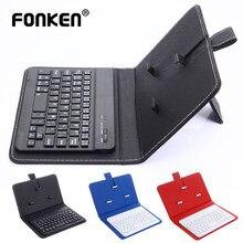 FONKEN سماعة لاسلكية تعمل بالبلوتوث لوحة المفاتيح آيفون هواوي شاومي اللوحي لوحة مفاتيح صغيرة الهاتف المحمول الألعاب لوحة المفاتيح PU دعم
