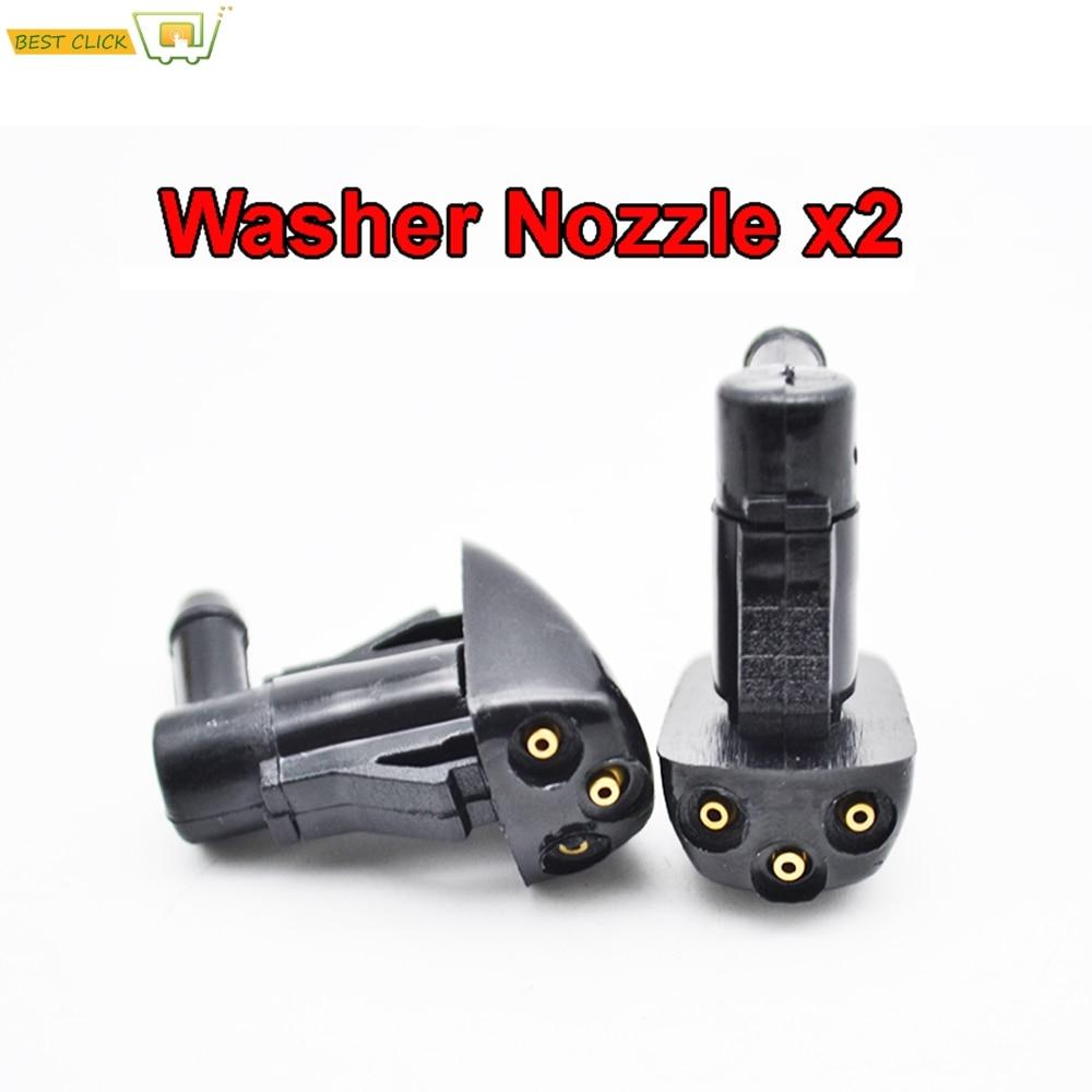 X2 Front Wiper Washer Nozzle Jet Fit For Hyundai Tucson Accent ix35 Santa Fe