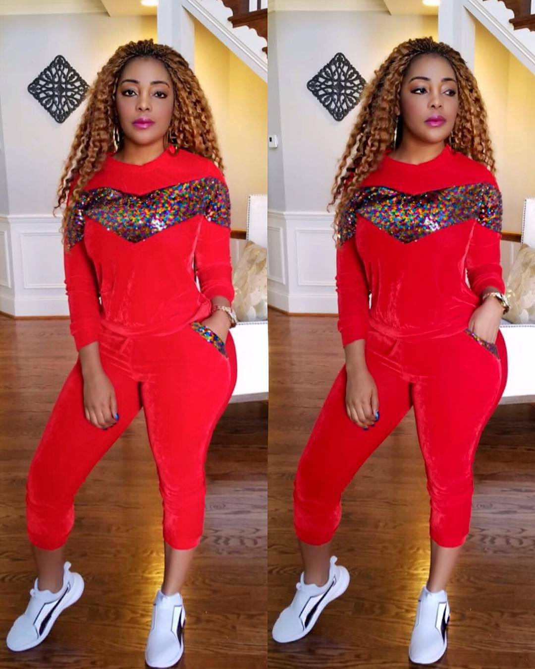 Velvet Sequin 2 Piece Set matching Women Tracksuit Hoodies Tops And Pant Casual Outfits Suits Fall Winter Velour Sweatsuit