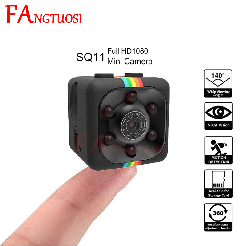 FANGTUOSI HD 1080P Мини камера SQ11 записывающие микрокамеры Спорт DV инфракрасная камера ночного видения автомобиля DV цифровой видеорегистратор