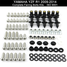цена на For Yamaha YZF R1 YZF-R1 2009 2010 2011 2012 2013 2014 Complete Full Fairing Kit Bolt Nuts Bodywork Screws Fairing Bolts Kit