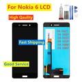 Сменный ЖК-дисплей для Nokia 6  тачскрин TA-1021 TA-1033 TA-1025 TA-1039  дигитайзер сенсорной панели  ЖК-дисплей в сборе