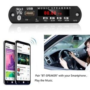 Image 4 - Kebidu bluetoothハンドフリーカーキットMP3プレーヤーデコーダボードfmラジオのtf usb 3.5ミリメートルauxオーディオ車のためiphone android携帯