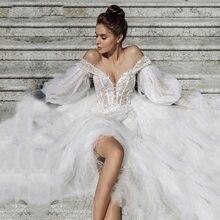 Eightale богемное свадебное платье с открытыми плечами аппликацией
