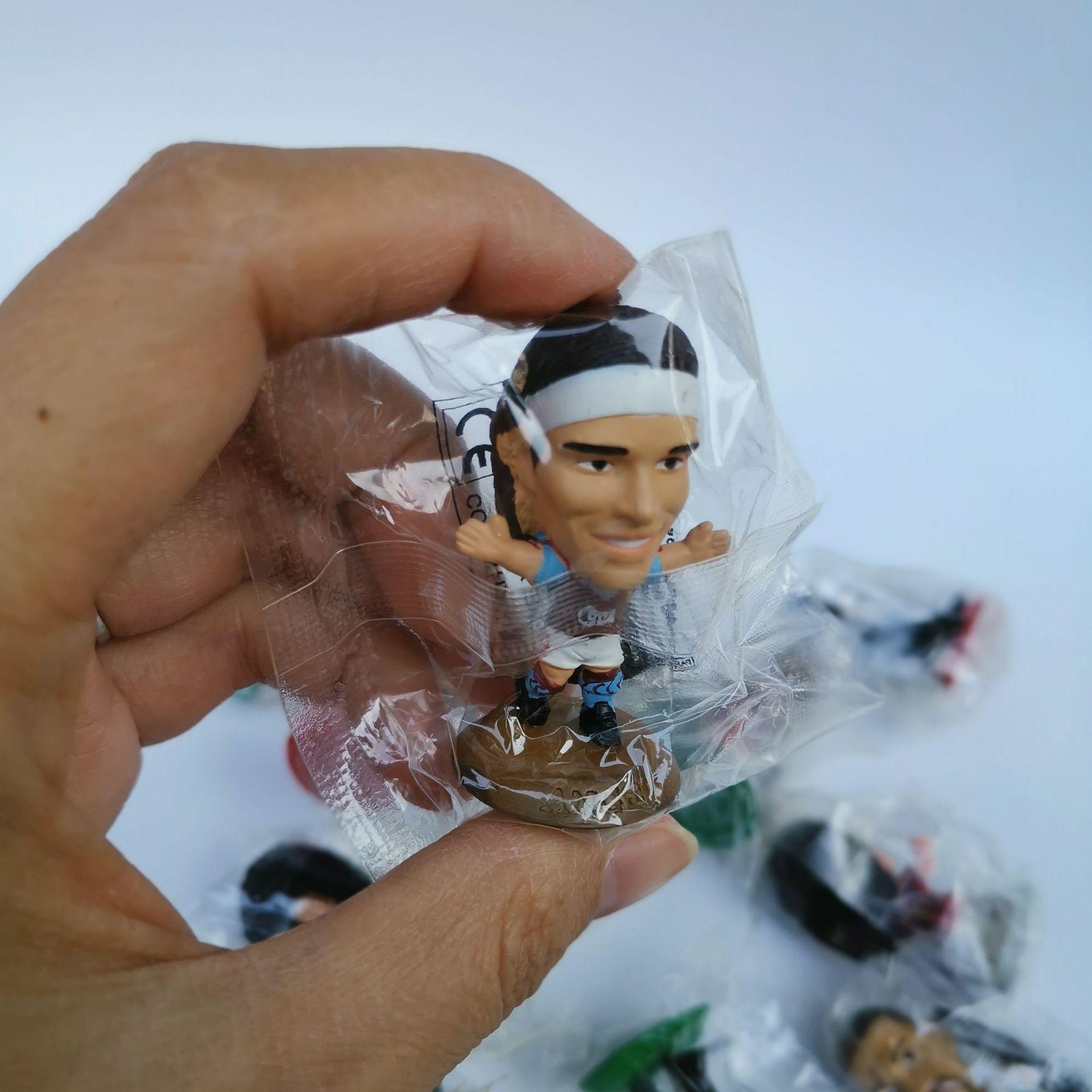 10pcs/lot Cartoon action figures football player stars athlete car decoration ornament cake accessories kids toys