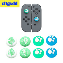 cltgxdd 4pcs Animal Crossing Cat Paw Analog Stick Grip Cap Joystick Cover For Nintendo Switch Lite Joy-Con Silicone non-slip cap